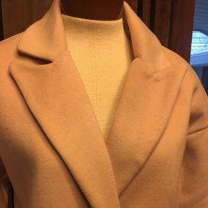 Jackets & Blazers - Blush color cocoon winter coat